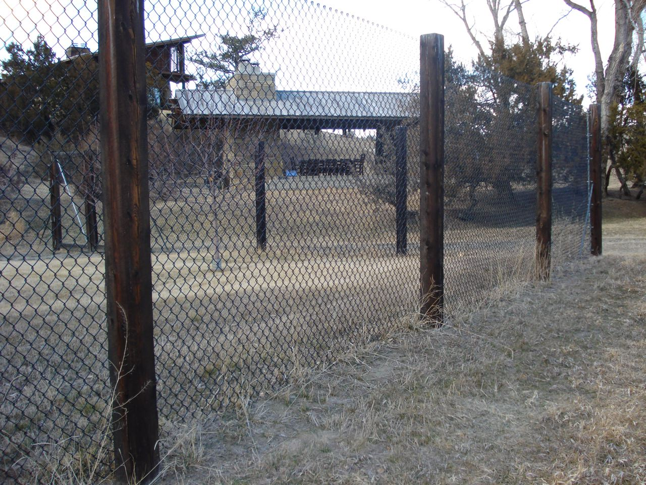 PVC coated chainlink deer fence